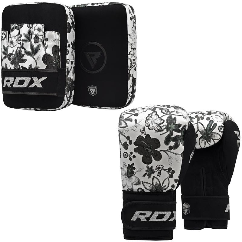 RDX FL4 Boxhandschuhe and Pratzen 10oz Weiss
