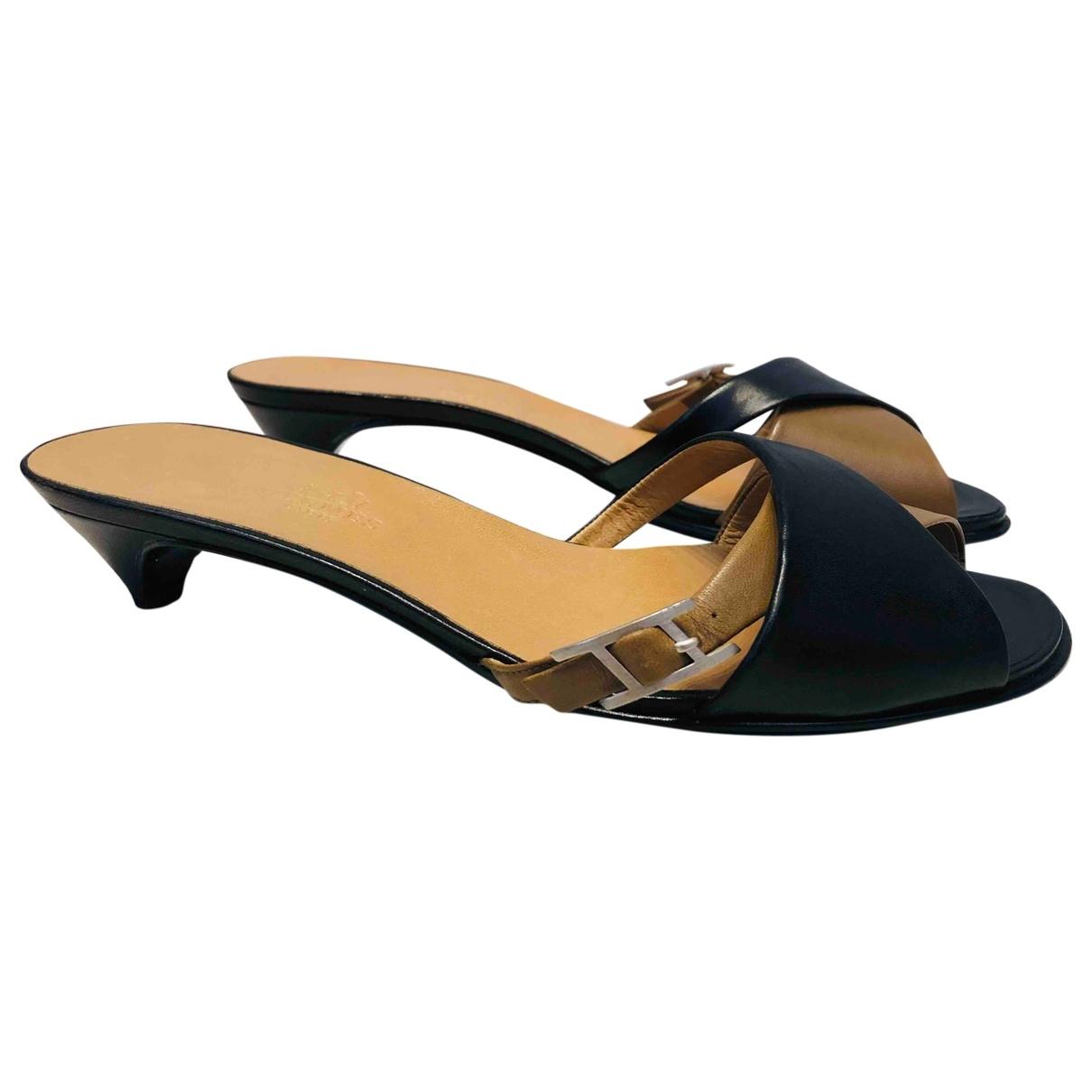Hermès \N Multicolour Leather Sandals for Women 37 EU