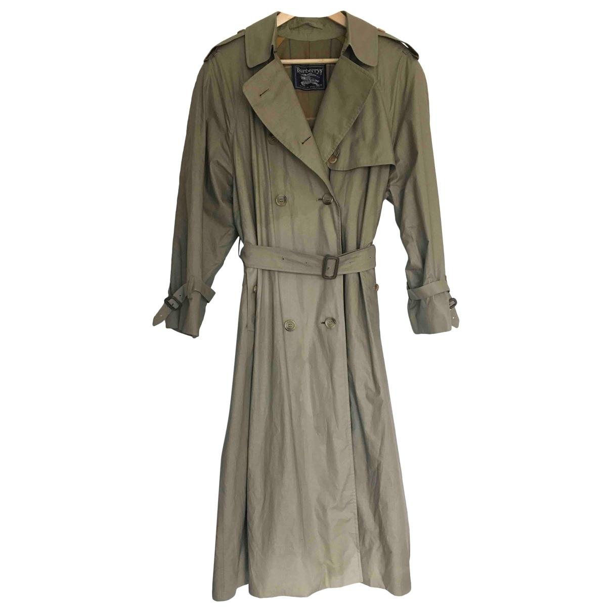 Burberry \N Beige Cotton Trench coat for Women 12 UK