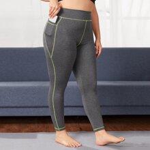 Leggings y pantalones deportivos de talla grande Bolsillo