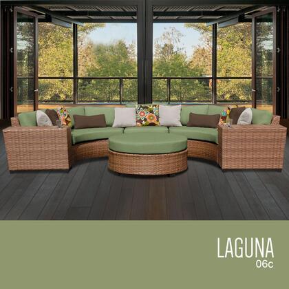 LAGUNA-06c-CILANTRO Laguna 6 Piece Outdoor Wicker Patio Furniture Set 06c with 2 Covers: Wheat and