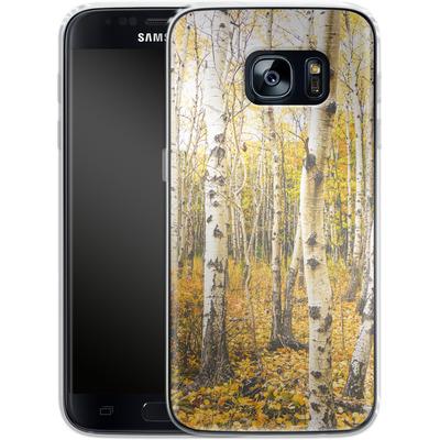 Samsung Galaxy S7 Silikon Handyhuelle - Fallen Leaves von Joy StClaire