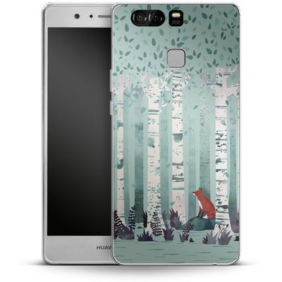 Huawei P9 Silikon Handyhuelle - Birches von Little Clyde