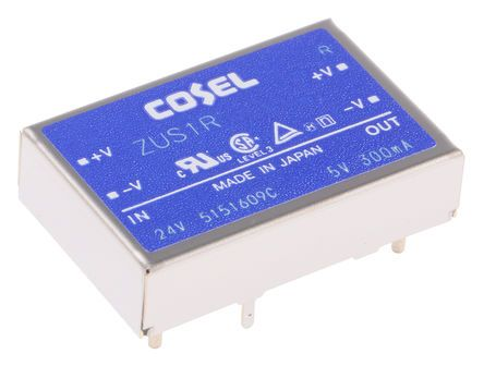 Cosel 1.56W Isolated DC-DC Converter Through Hole, Voltage in 18 → 36 V dc, Voltage out 12V dc