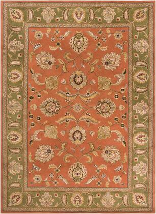 Crowne CRN-6019 10' x 14' Rectangle Traditional Rug in Camel  Dark Brown