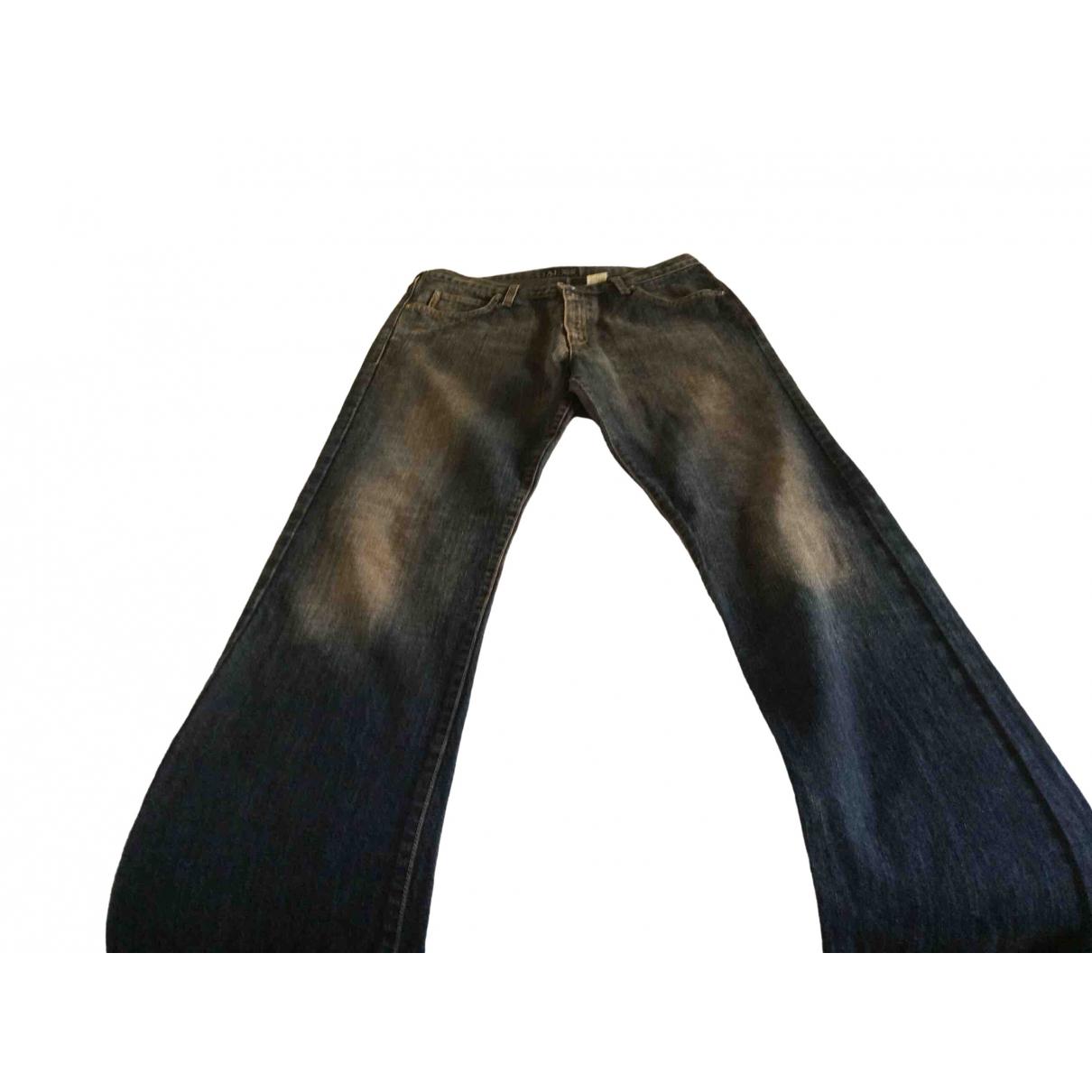 Armani Jeans \N Blue Cotton Jeans for Women 31 US