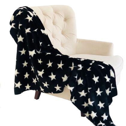 Black/White Collection PBSF1507-108x90T 108L x 90W Full - Queen Stars Soft Handmade Luxury