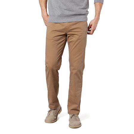 Dockers Men's Straight Fit Jean Cut Khaki All Seasons Tech Pants D2, 36 34, Brown