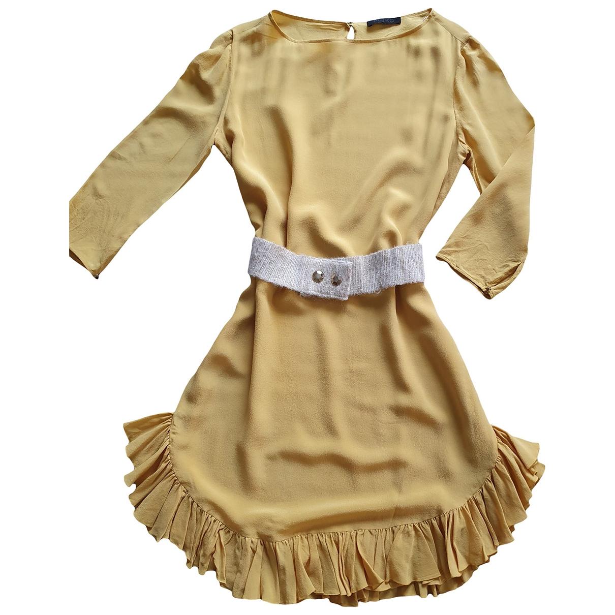 Pinko \N Kleid in  Gelb Seide