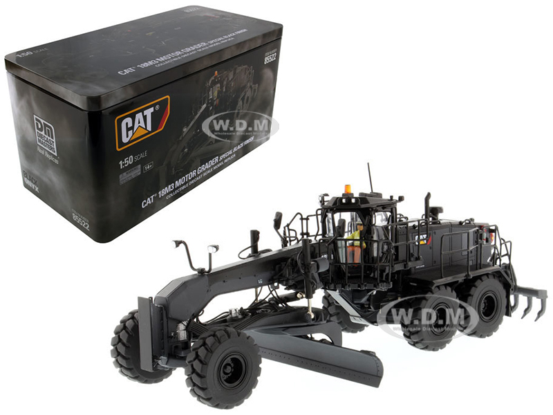 CAT Caterpillar 18M3 Motor Grader Special Edition in Black Onyx with Operator