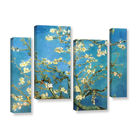 Brushstone Almond Blossom 4-pc. Gallery Wrapped Staggered Canvas Wall Art, One Size , Blue