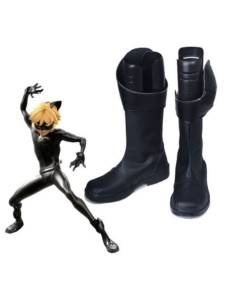 Milanoo Miraculous Ladybug Cat Noir Shoes Cosplay Costume Boots