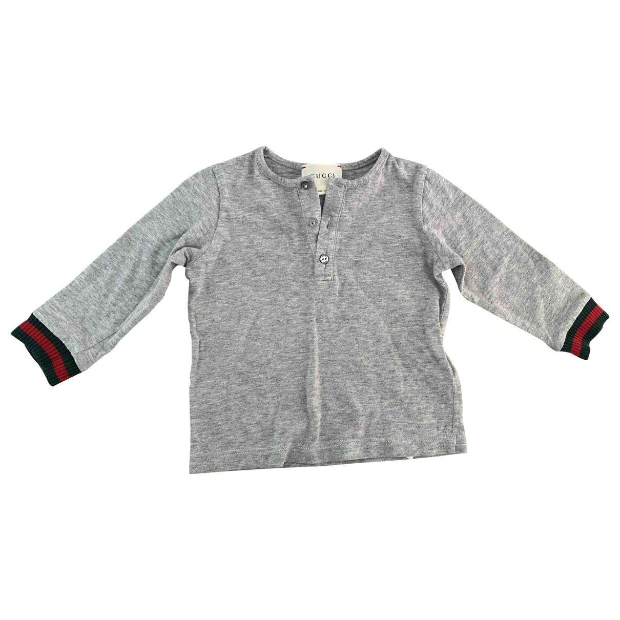 Gucci \N Grey Cotton  top for Kids 9 months - until 28 inches UK