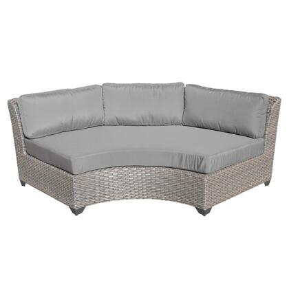TKC055b-CAS-GREY Florence Curved Armless Sofa with 2 Covers: Grey and