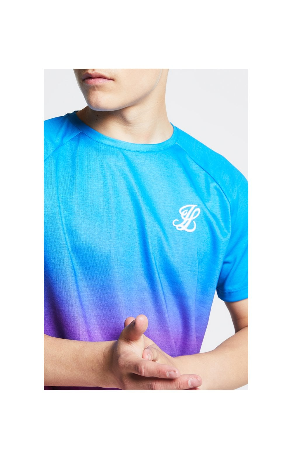 Illusive London Fade Tee - Blue & Pink Kids Top Sizes: 13-14 YRS