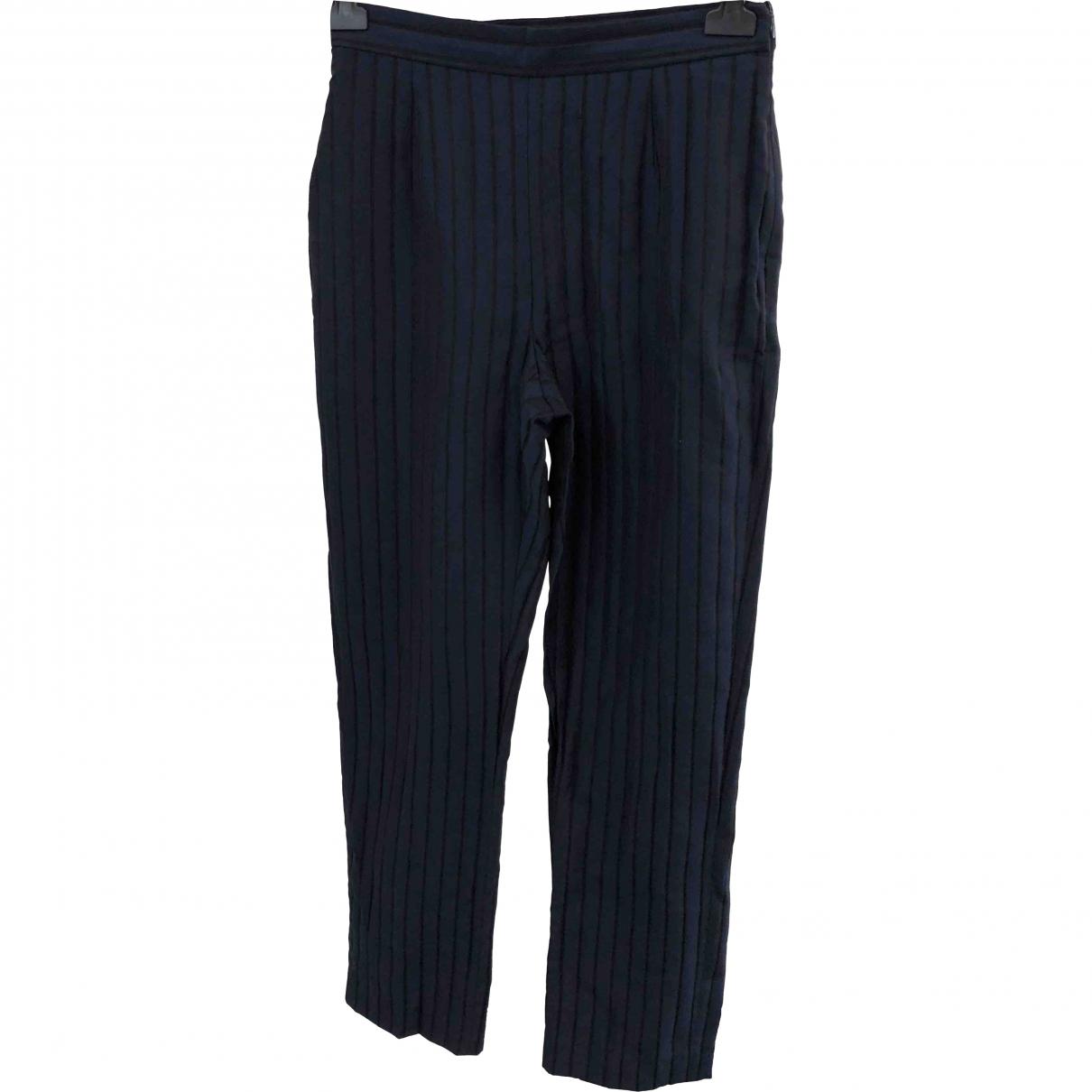 Kenzo \N Navy Trousers for Women 32 FR