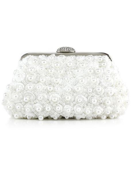 Milanoo Bolso de noche con perlas y flores