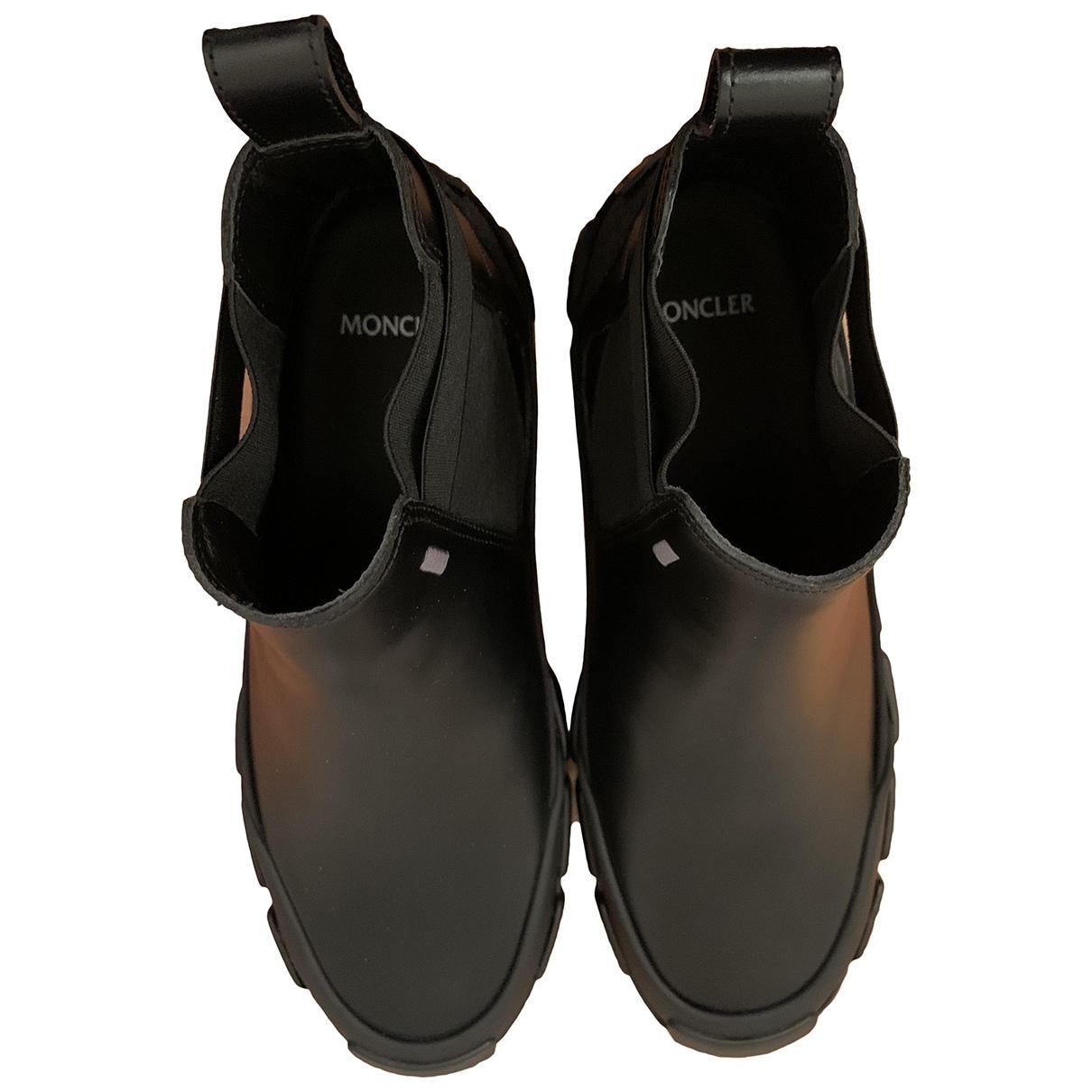 Moncler Genius - Bottes   pour femme en cuir - noir