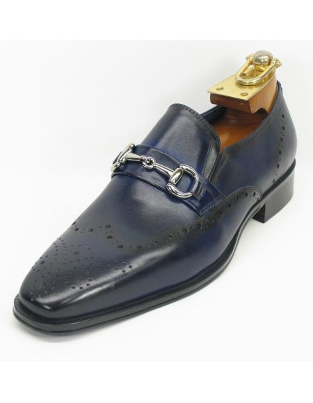 Men's Navy Slip On Style Fashionable Shoes