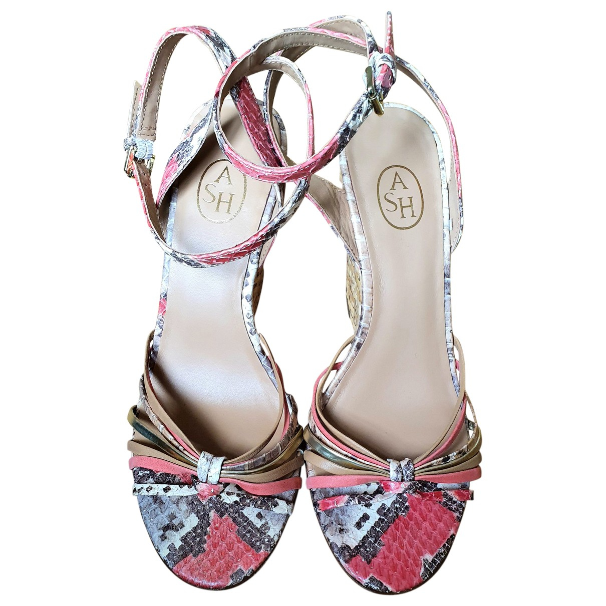 Ash \N Pink Leather Sandals for Women 37 EU