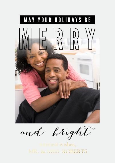 Christmas Photo Cards Set of 20, Premium 5x7 Foil Card, Card & Stationery -Simply Seasonal