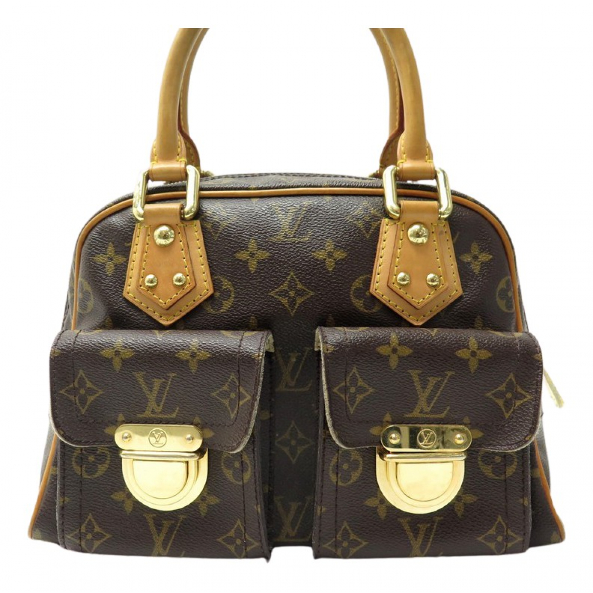 Louis Vuitton - Sac a main Manhattan pour femme en toile - marron