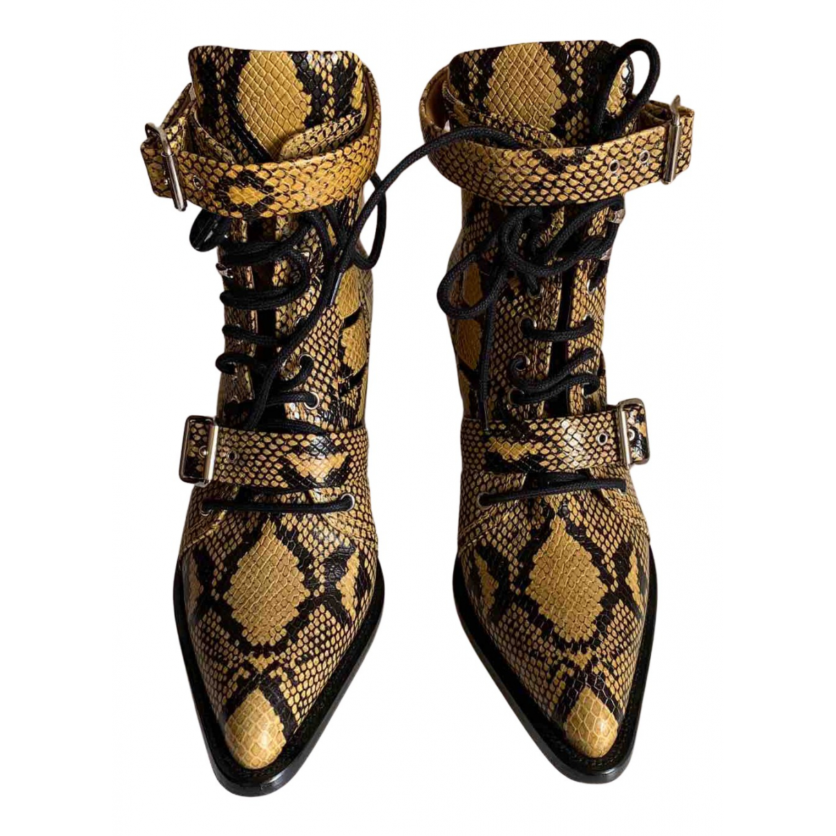Chloé N Yellow Leather Ankle boots for Women 42 EU