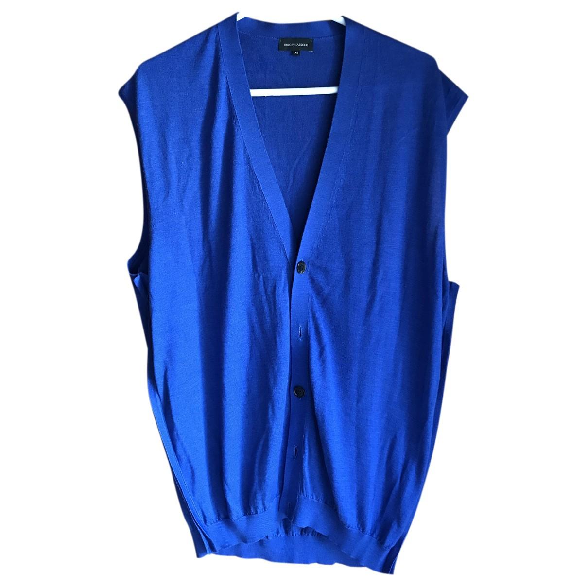 Kris Van Assche - Pulls.Gilets.Sweats   pour homme en laine - bleu