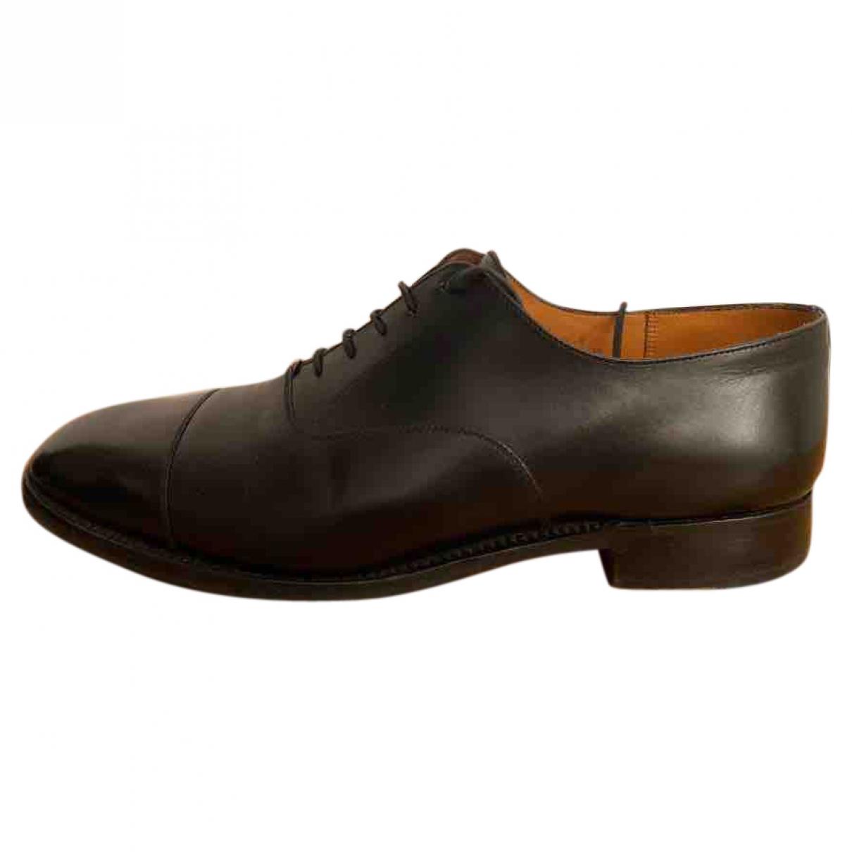 Jm Weston \N Black Leather Lace ups for Men 41 EU