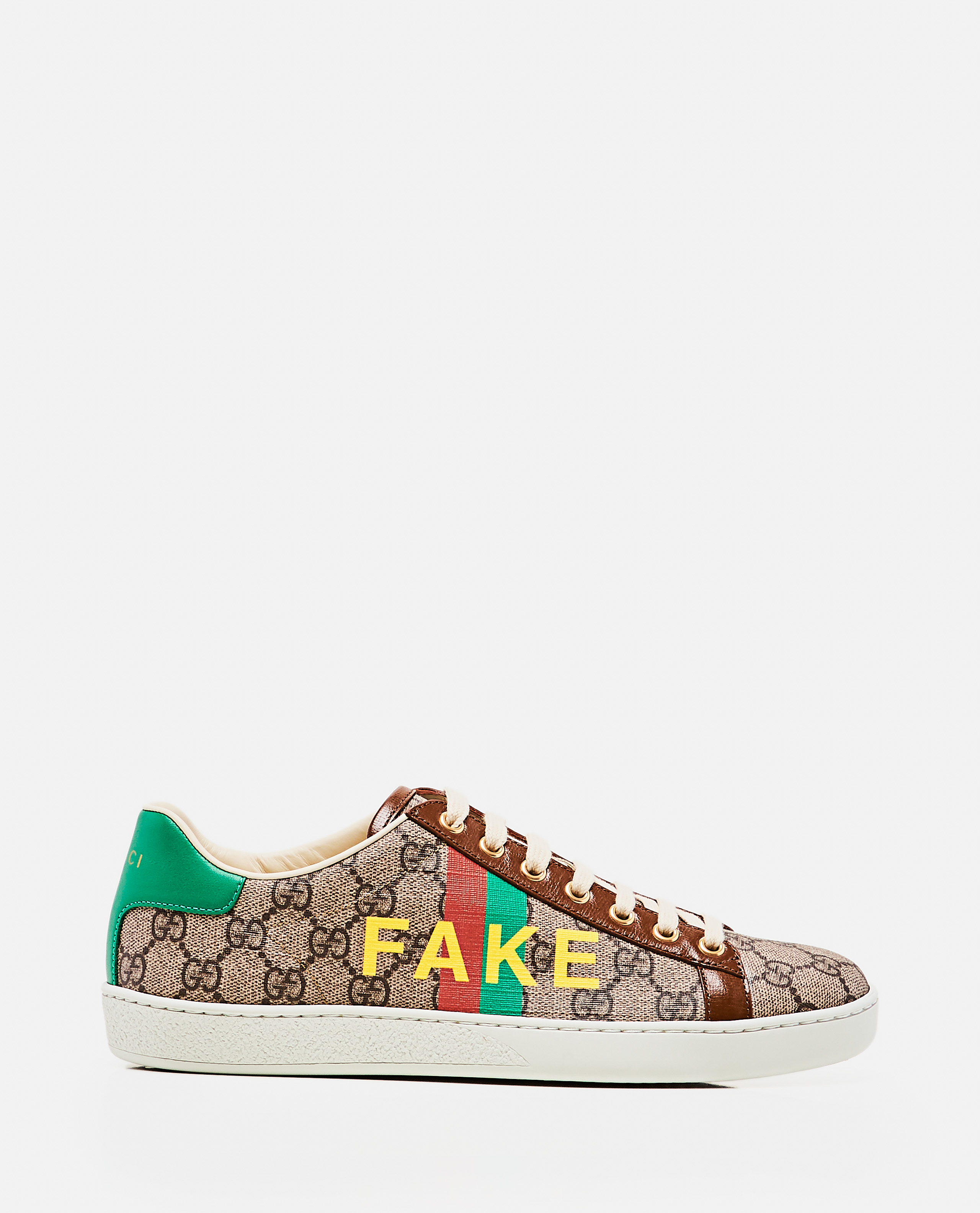 Ace sneaker with 'Fake / Not' print