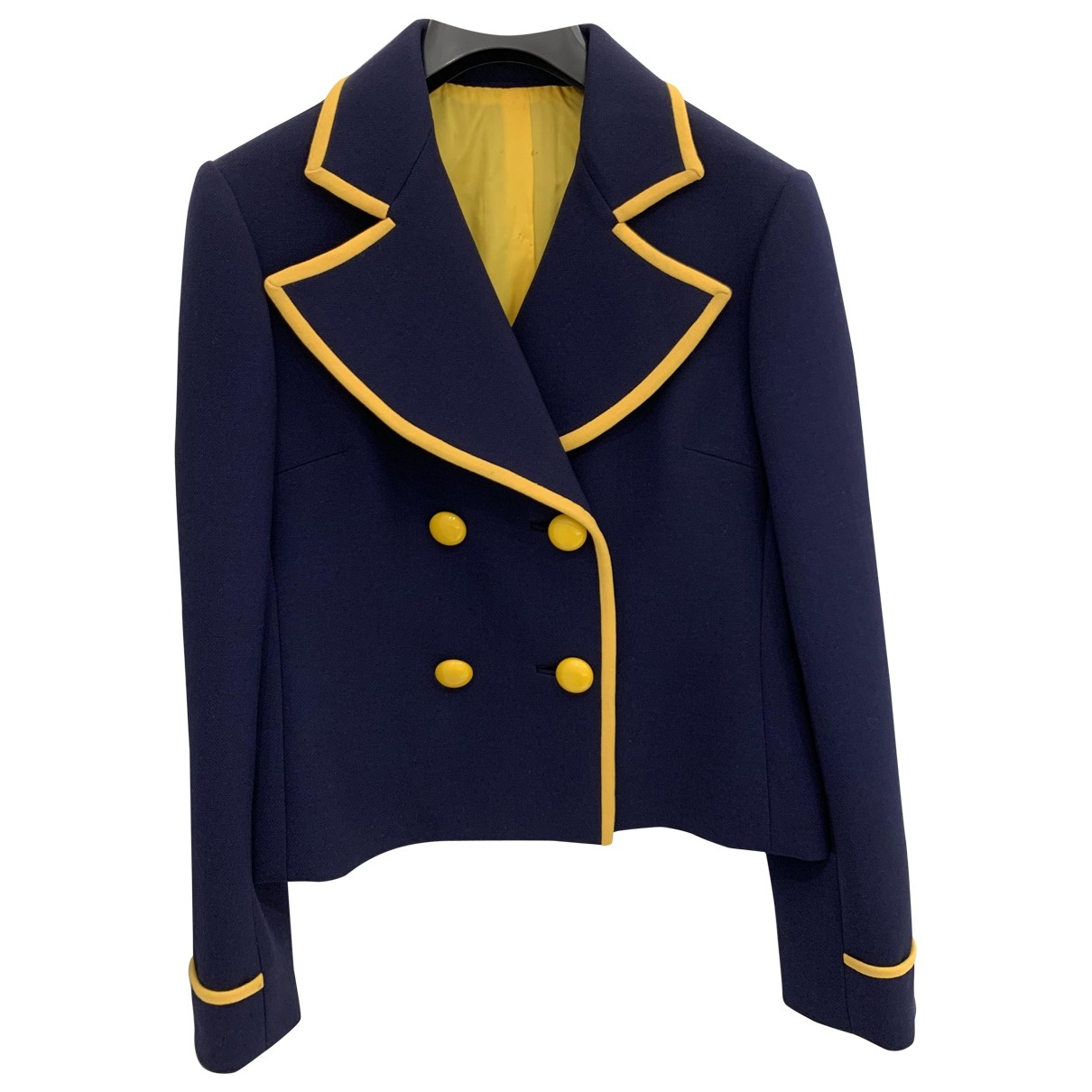 Non Signé / Unsigned \N Navy jacket for Women 36 FR