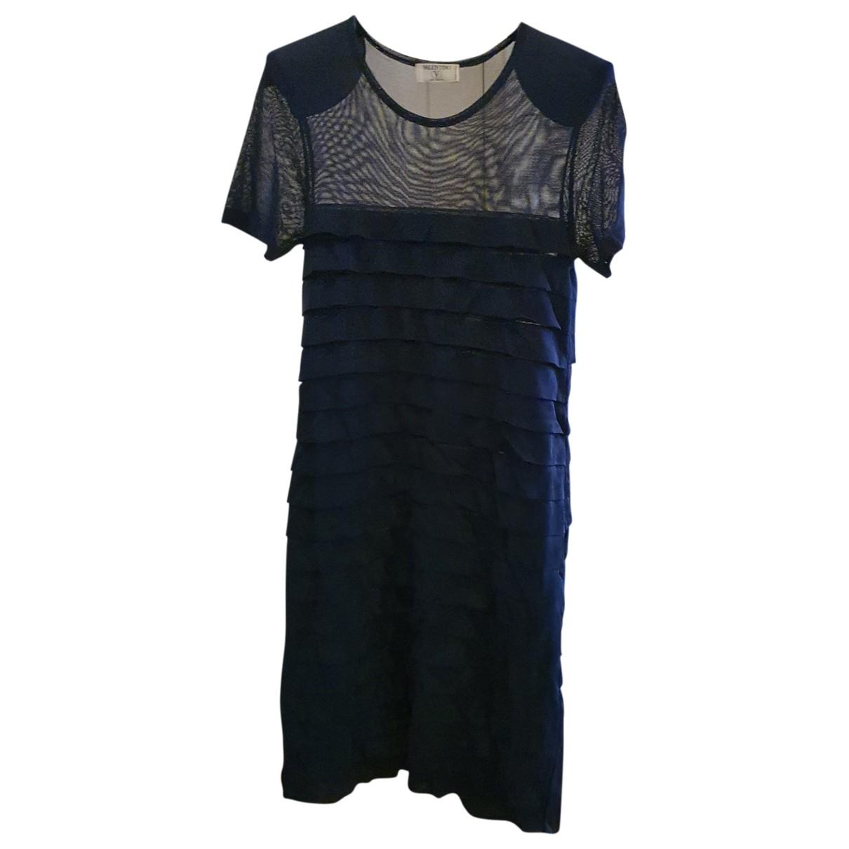 Valentino Garavani \N Kleid in  Blau Viskose