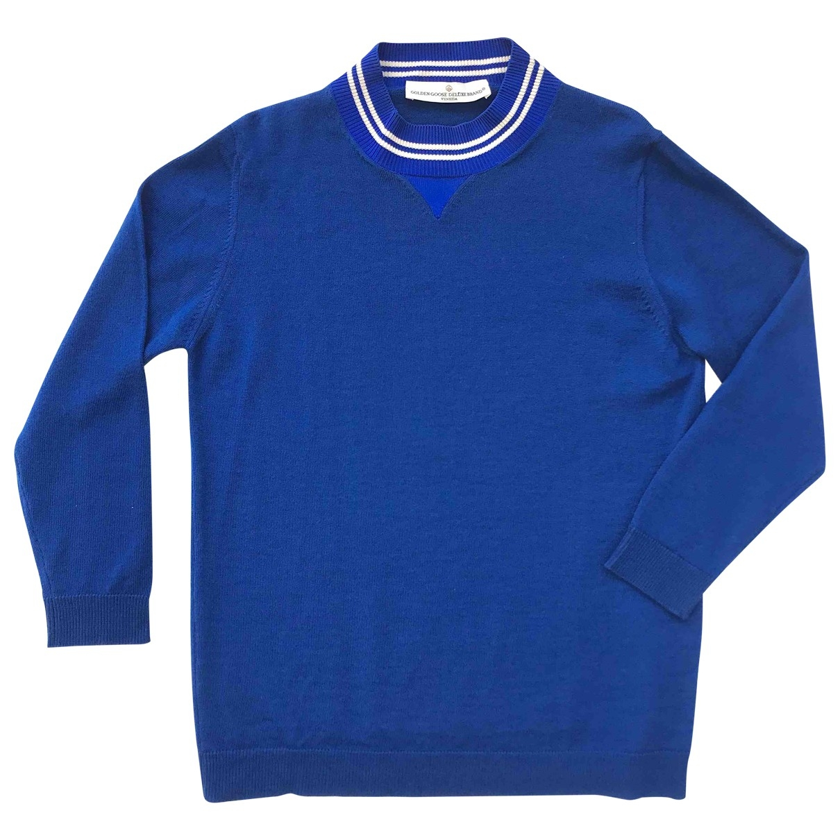 Golden Goose \N Pullover in  Blau Wolle
