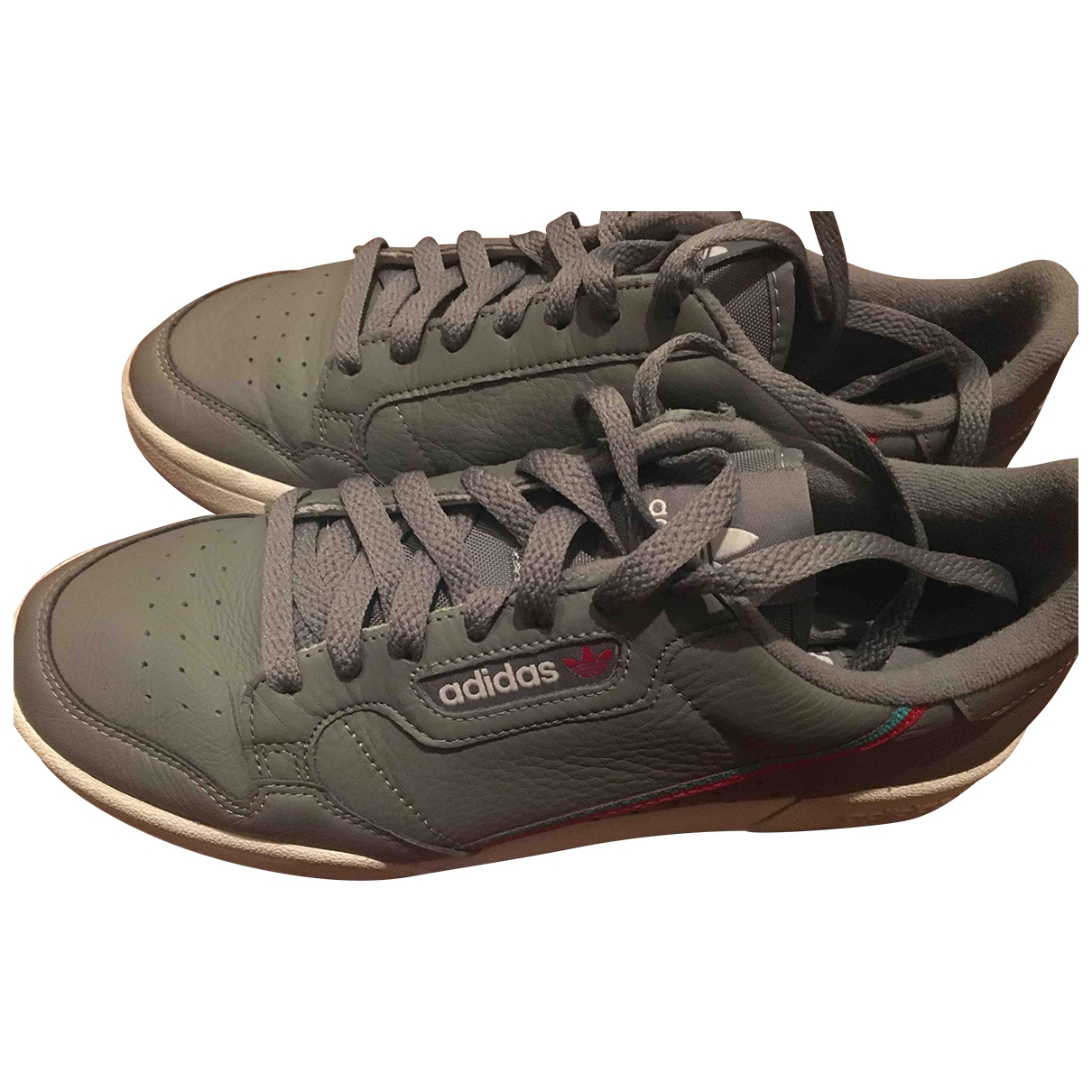 Adidas Continental 80 Sneakers in  Grau Leder