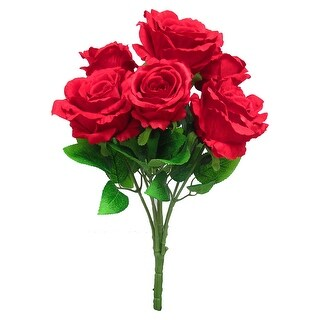 Deluxe Elegant Rose Flower Stems Bush Bouquet 21.5in (21.5