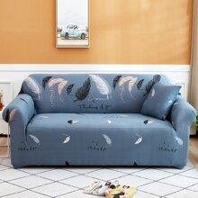 Sofabezug mit Feder Muster ohne Kissen