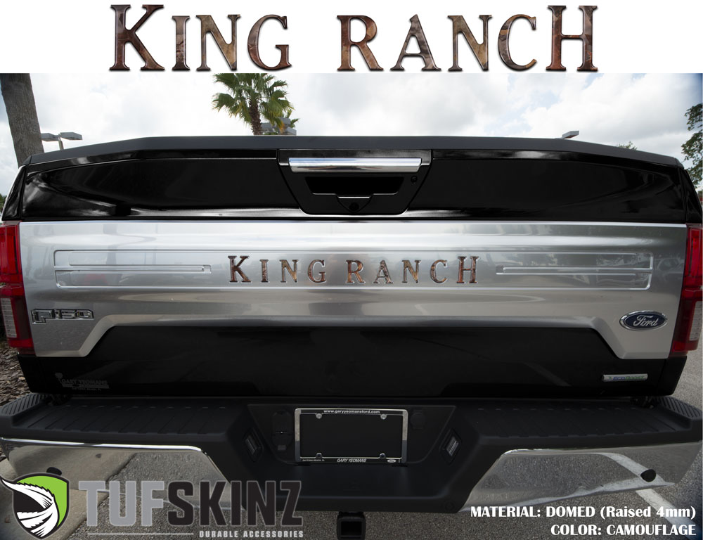 Tufskinz FRD009-CAM-M Tailgate Inserts Fits 2018-2021 Ford F-150 King Ranch 9 Piece Kit in Camouflage