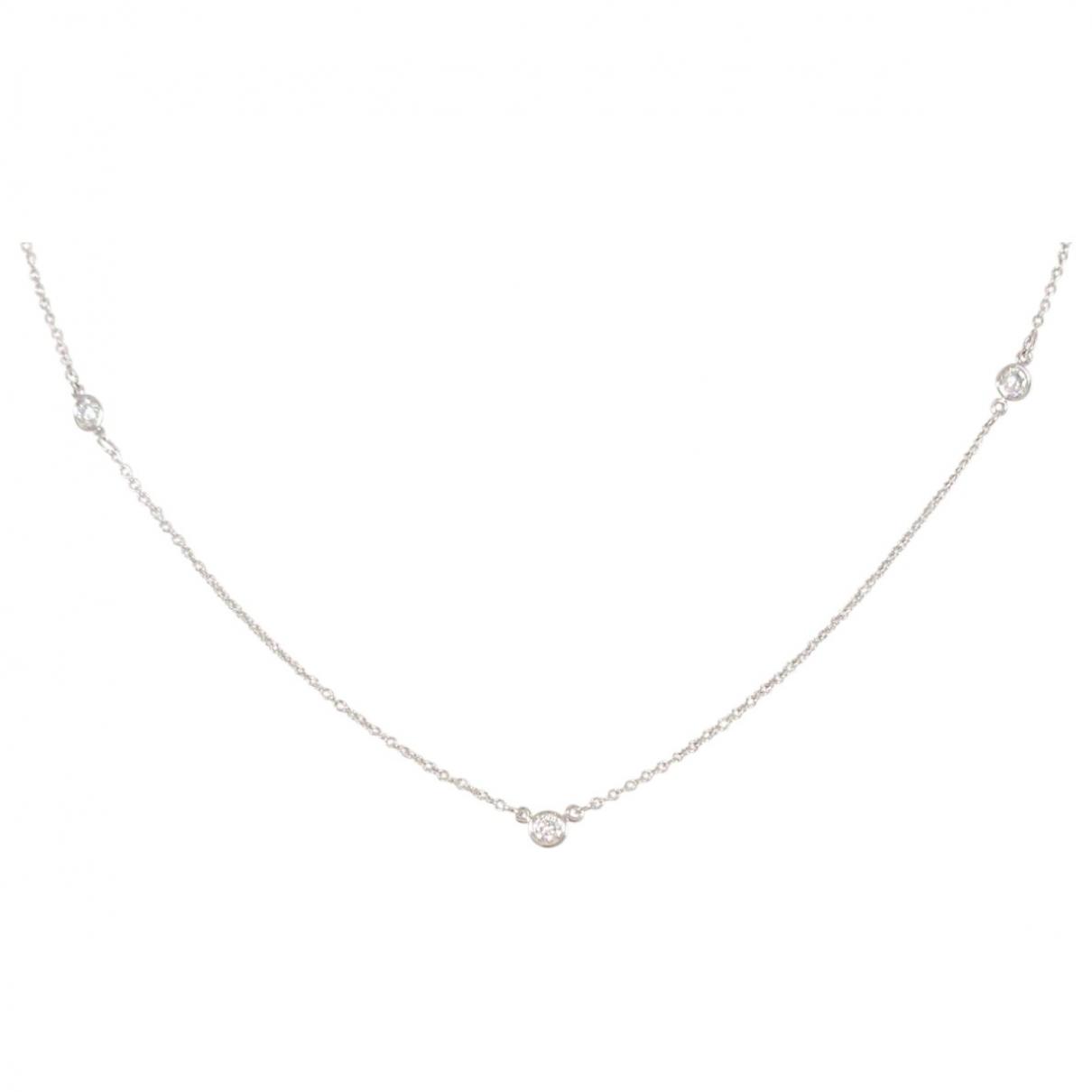 Tiffany & Co - Collier   pour femme en platine - dore