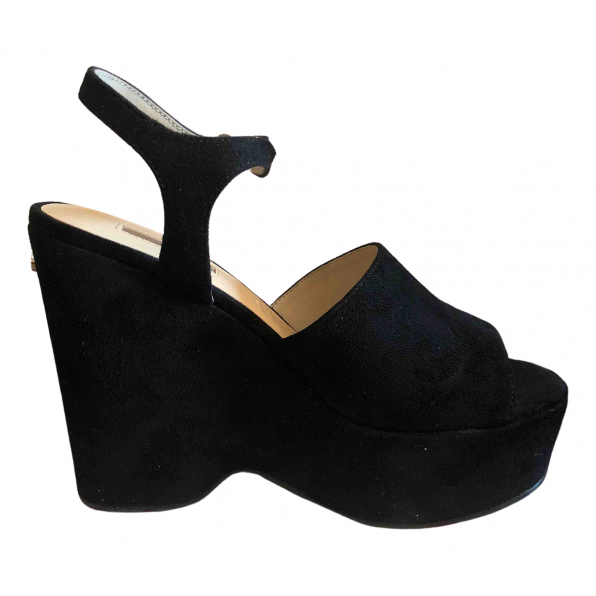 Guess N Black Suede Heels for Women 37 EU