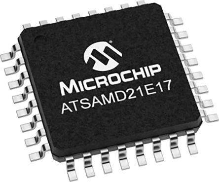 Microchip ATSAMD21E17D-AU, 32bit Microcontroller, SAM D21, 48MHz, 128 kB Flash, 32-Pin TQFP (250)