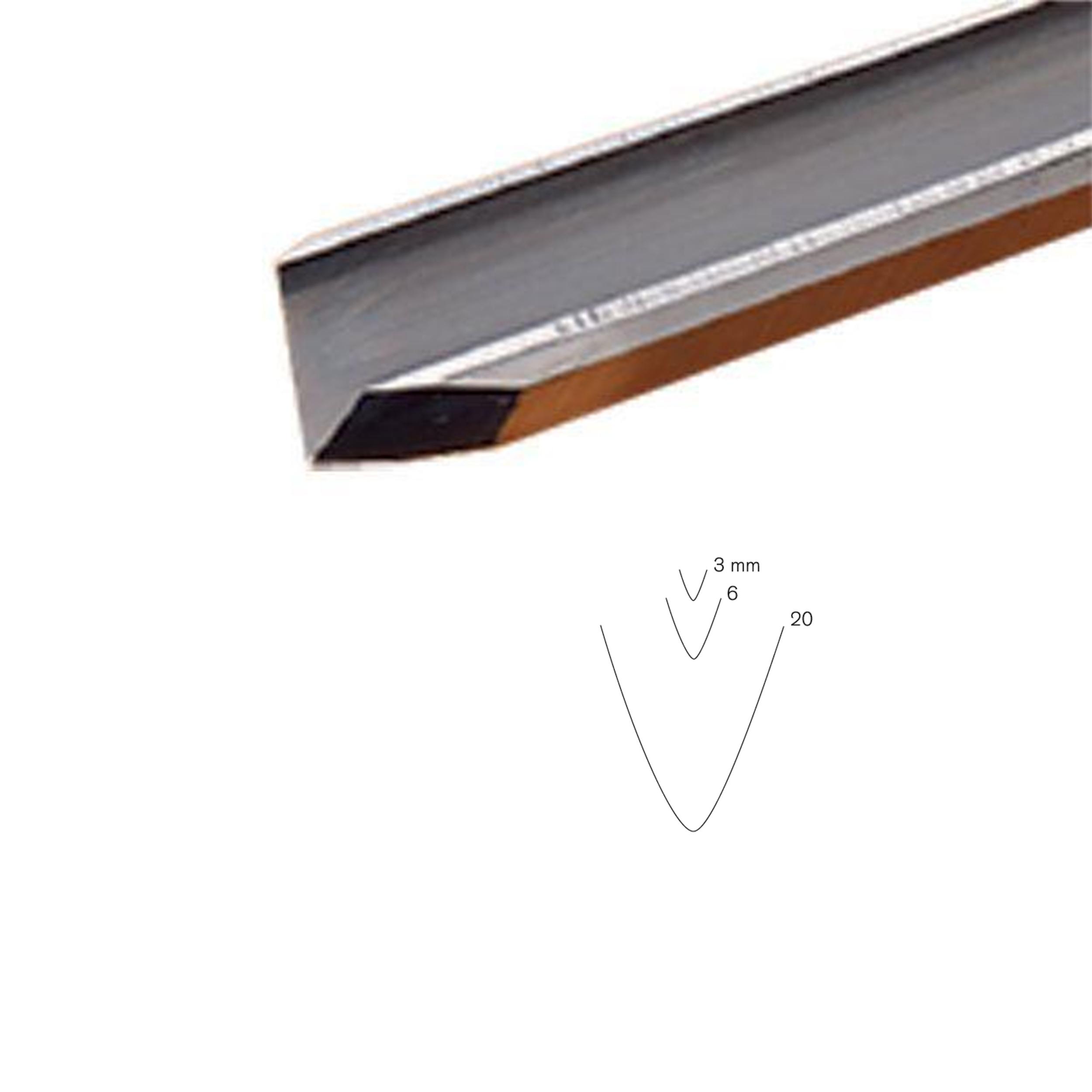#17 Sweep Stahli V-Parting Tool, 20 mm, Full Size