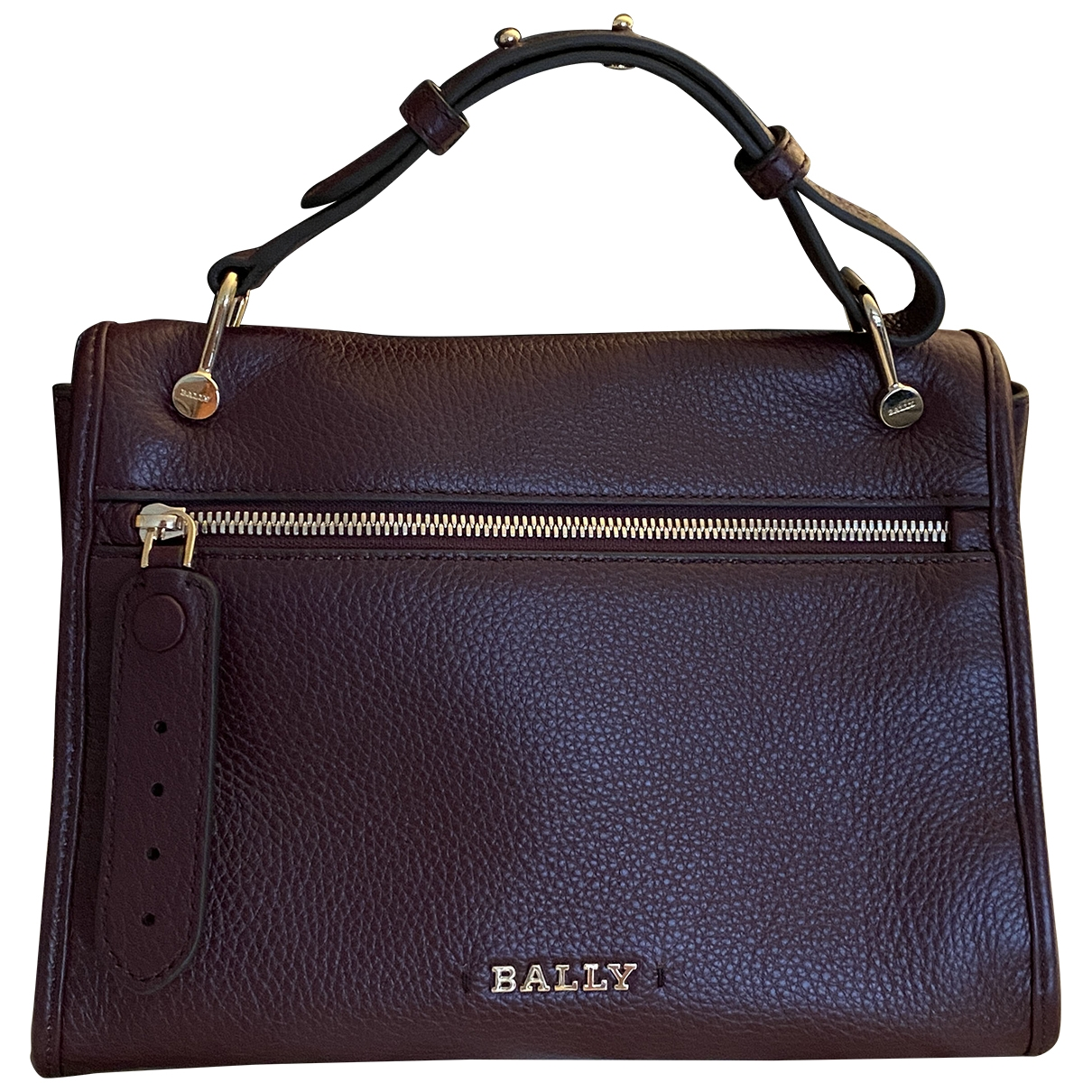 Bally \N Burgundy Leather handbag for Women \N