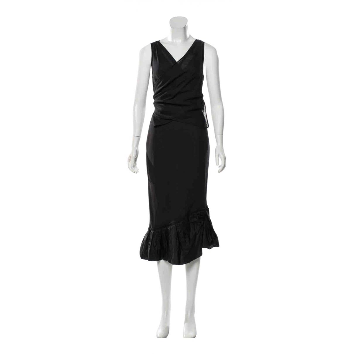 Vera Wang N Black Wool dress for Women 2 US