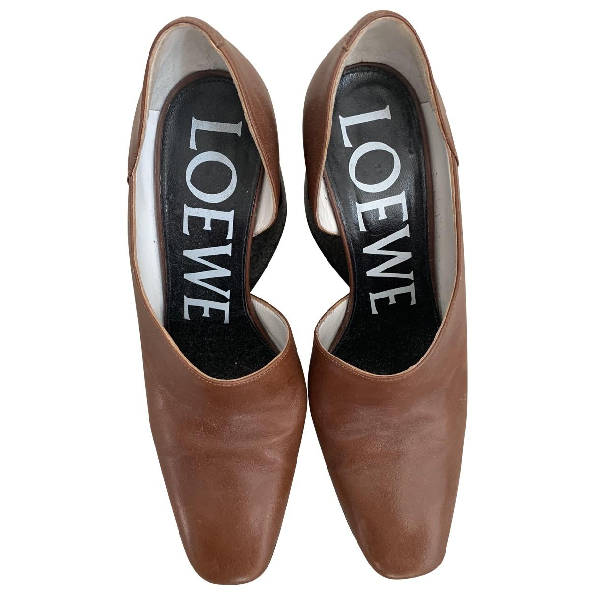 Loewe \N Brown Leather Heels for Women 39 EU