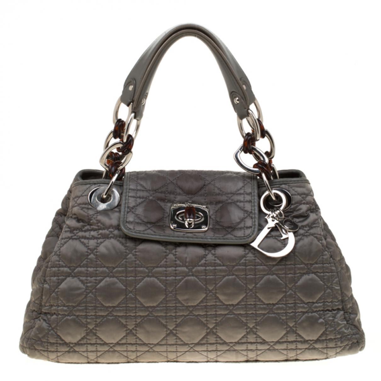 Dior - Sac a main Charming pour femme en cuir - gris