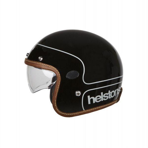 Helstons Corporate Carbon Fiber Black Jet Helmet S
