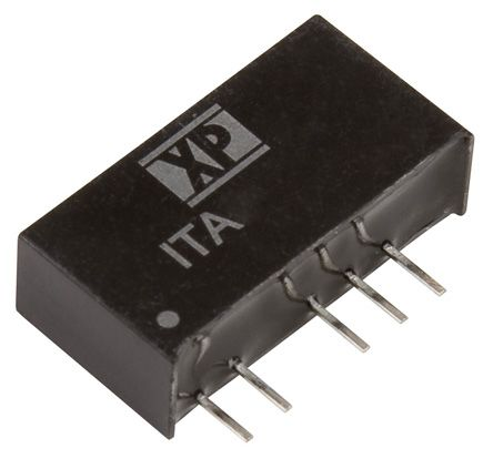 XP Power ITA 1W Isolated DC-DC Converter Through Hole, Voltage in 21.6 → 26.4 V dc, Voltage out ±12V dc