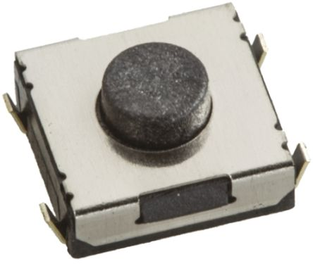 Wurth Elektronik Black Tactile Switch, Single Pole Single Throw (SPST) 50 mA @ 12 V dc 1.1mm Surface Mount