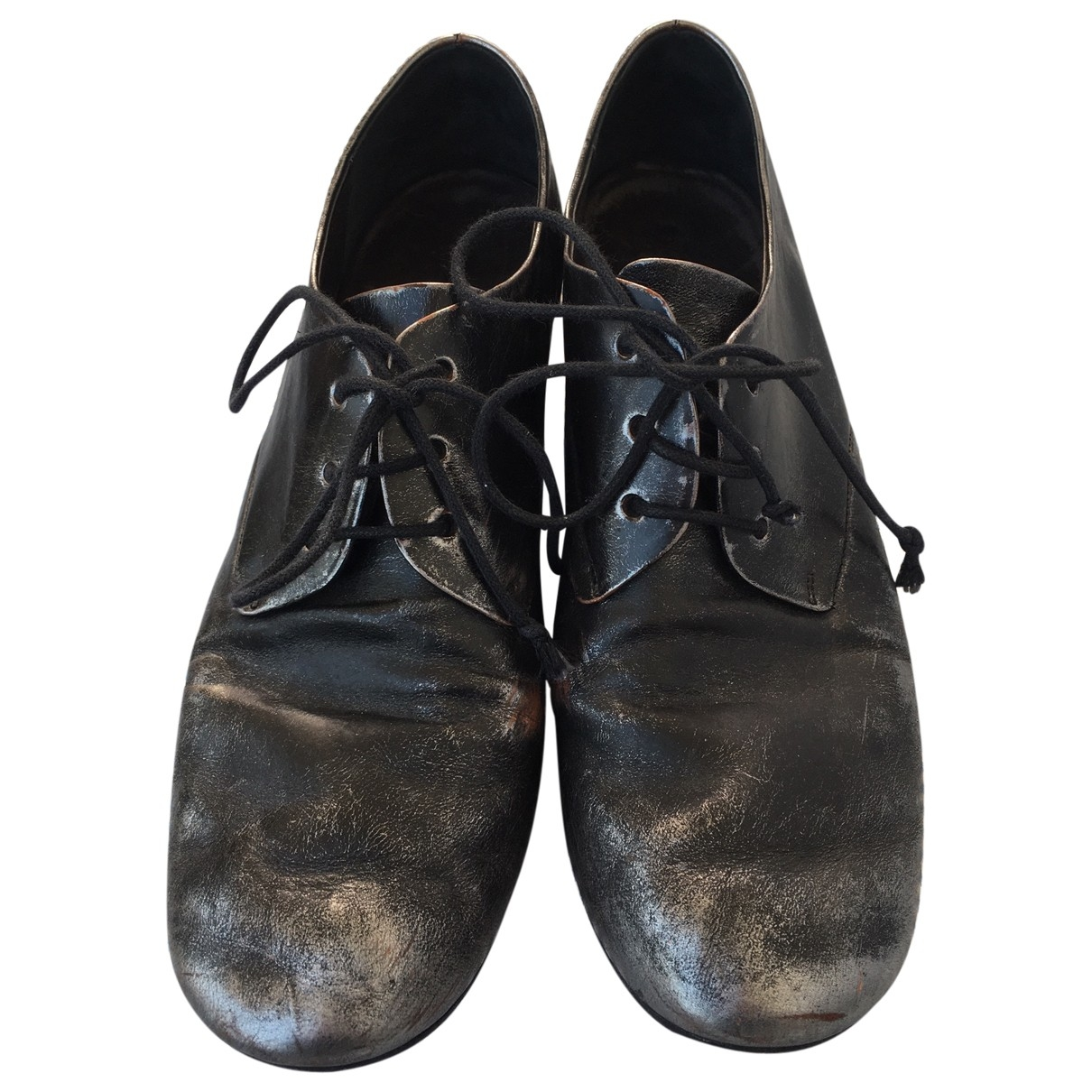 Marsell - Derbies   pour femme en cuir - noir