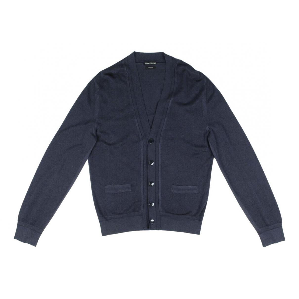 Tom Ford \N Pullover.Westen.Sweatshirts  in  Blau Baumwolle